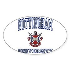 NOTTINGHAM University Oval Decal