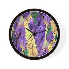 Cute Grapes Wall Clock