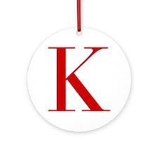 K-bod red2 Ornament (Round)