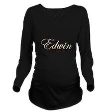 Gold Edwin Long Sleeve Maternity T-Shirt