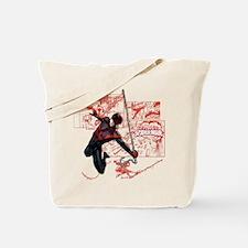 Ultimate Spider-Man Miles Morales Panels Tote Bag