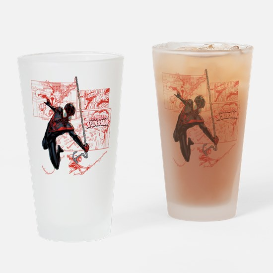 Ultimate Spider-Man Miles Morales P Drinking Glass