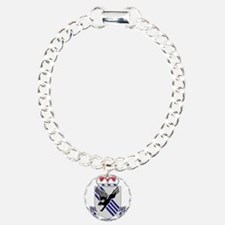 505th Airborne Infantry Charm Bracelet, One Charm