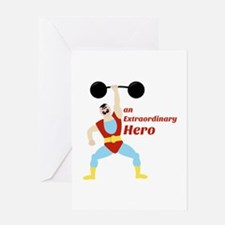 Extraordinary Hero Greeting Cards