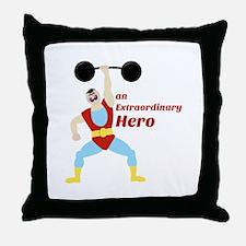Extraordinary Hero Throw Pillow