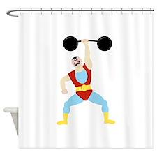 Weight Lifter Shower Curtain