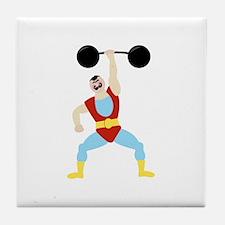 Weight Lifter Tile Coaster
