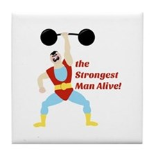 Strongest Man Tile Coaster
