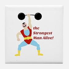 Strongest Man Tile Coaster
