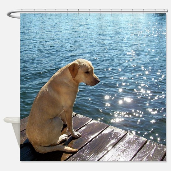 Yellow Labrador Shower Curtain