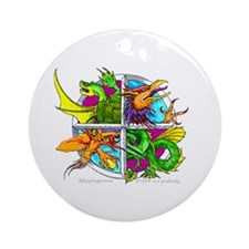 Four Dragons Ornament (Round)