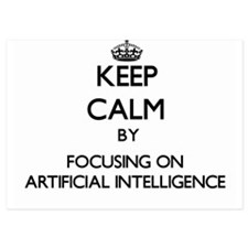 Keep Calm by focusing on Artificial In Invitations