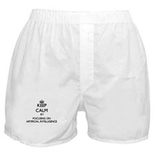 Keep Calm by focusing on Artificial I Boxer Shorts