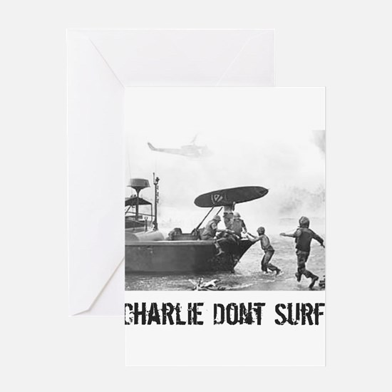 """Charlie Don't Surf"" Greeting Cards"
