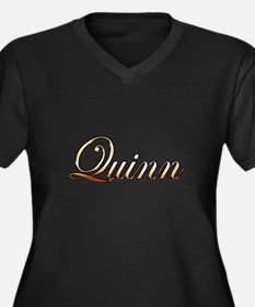 Gold Quinn Women's Plus Size V-Neck Dark T-Shirt