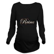 Gold Raina Long Sleeve Maternity T-Shirt