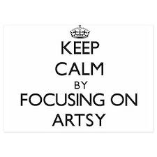 Keep Calm by focusing on Artsy Invitations