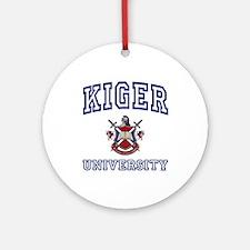 KIGER University Ornament (Round)