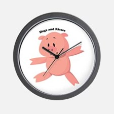 Hogs And Kisses Wall Clock