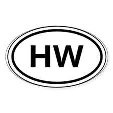 HW Car Oval Stickers