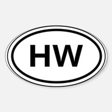 HW Car Oval Stickers