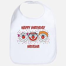 Happy Birthday NATASHA (clown Bib