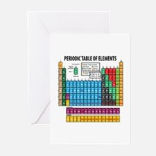 Periodic Table Greeting Cards