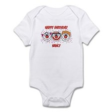 Happy Birthday NANCY (clowns) Infant Bodysuit