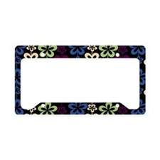 Trendy Girly Floral Pattern License Plate Holder
