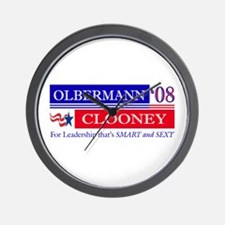 Olbermann_Clooney Wall Clock
