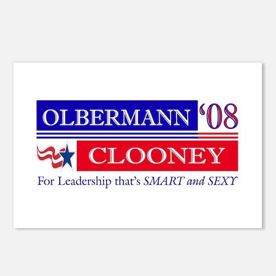 Olbermann_Clooney Postcards (Package of 8)