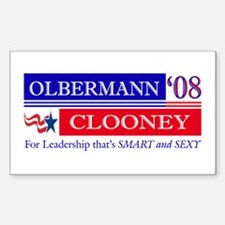 Olbermann_Clooney Rectangle Decal