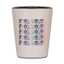 Trendy Girly Floral Pattern Shot Glass
