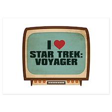 Retro I Heart Star Trek: Voyager Invitations