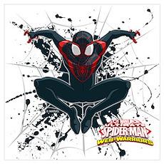 Ultimate Spider-Man Miles Morales Splatte Wall Art Poster