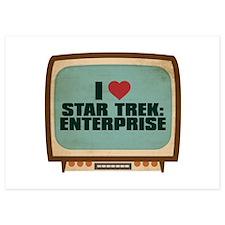 Retro I Heart Star Trek: Enterprise Invitations