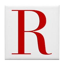 R-bod red2 Tile Coaster