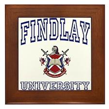 FINDLAY University Framed Tile