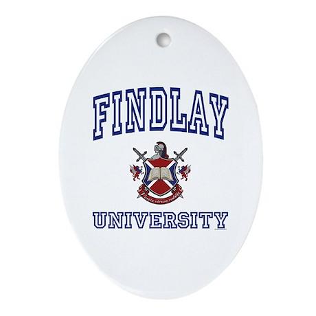 FINDLAY University Oval Ornament