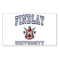 FINDLAY University Rectangle Decal