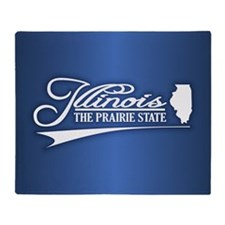 Illinois State of Mine Throw Blanket