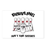Bowling Ain't For Sissies Postcards (Package of 8)