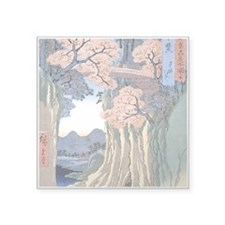 Monkey Bridge Kai, Hiroshige Sticker
