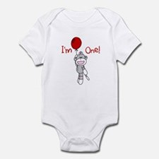 Sock Monkey 1st Birthday Infant Bodysuit