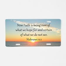 HEBREWS 11 Aluminum License Plate