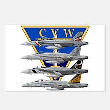 CVW-2_CARRIER_f18_hornet. Postcards (Package of 8)