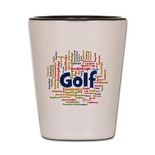 Cute Golf course Shot Glass