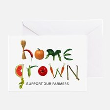 Home Grown. Support our Farme Greeting Cards (Pack