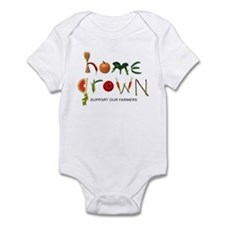 Home Grown. Support our Farme Infant Bodysuit