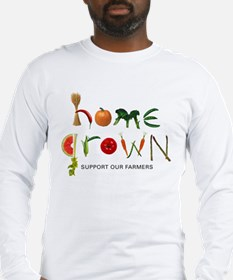 Home Grown. Support our Farme Long Sleeve T-Shirt